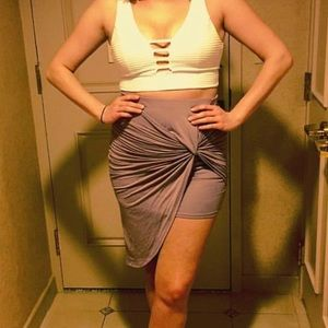 💜 Charlotte Russe pale plum skirt